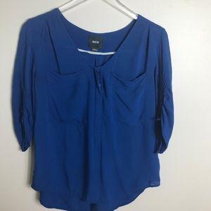 Anthropolgie Maeve Blue Blouse size xs 2182